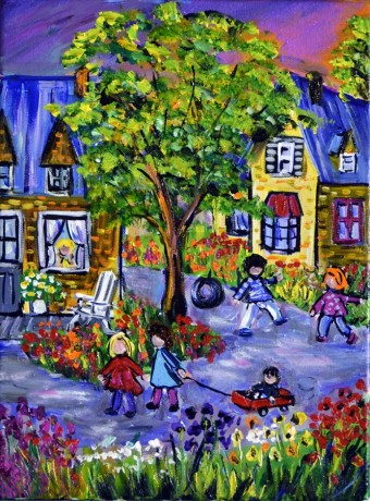 12x16-koymans-summer-evening-kids-playinghumb-1