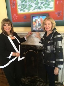 24 sussex mrs. harper and me at fireplace march 6  2015