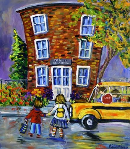 koymans-30x24-kids-outside-school-and-bus-for-nov-2016-showunnamed